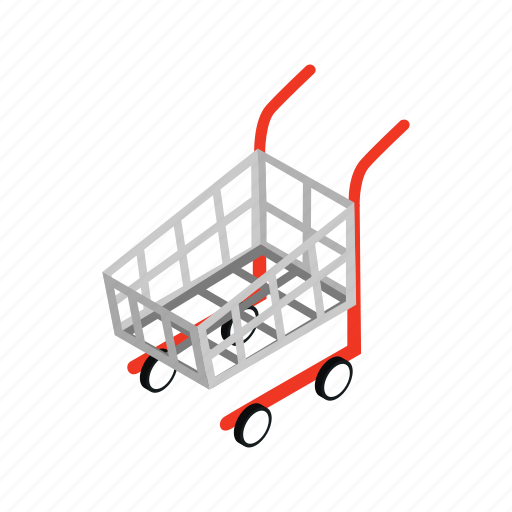 cart, commerce, isometric, market, retail, sale, store icon