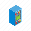 isometric, cooler, drink, freeze, food, cold, refrigerator
