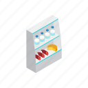 food, fridge, grocery, isometric, shop, store, supermarket icon