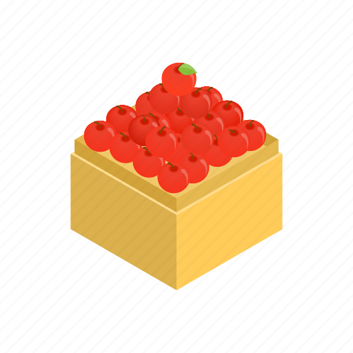 apple, food, fruit, grocery, isometric, market, supermarket icon