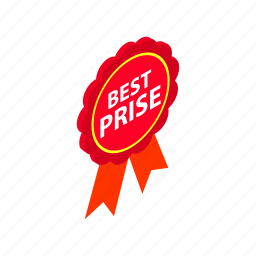 banner, best, guarantee, isometric, offer, price, sale icon