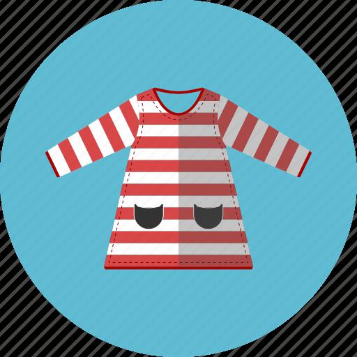 children wear, dress, girl dress, striped icon