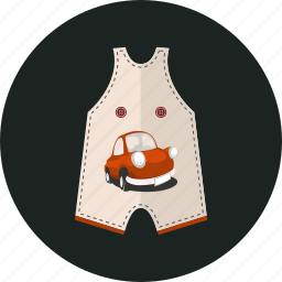 baby, baby clothes, dungaree, shortie romper icon