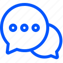 ask, bubbles, chat, support, talk icon