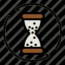 hourglass, update, clock, time, waiting