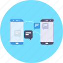 app, chat, conversation, mobile, sms, talk, transfer icon