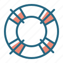 life ring, safety, swimming, water icon