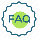 faq, help, information, question icon