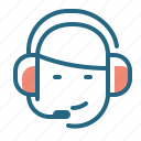 assistance, headphones, headset, support icon