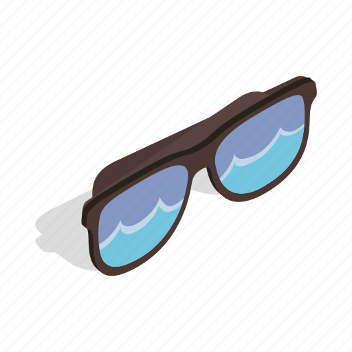 beach, glass, isometric, retro, summer, sun, sunglasses icon