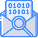analysis, mail, security, surveillance icon