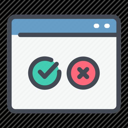 answer, exam, online, survey, test, web, website icon