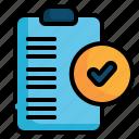 list, check, survey, clipboard, checklist, tick