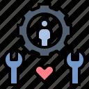 customer, heart, maintenance, service, support