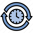 forever, interval, moment, sustainable, time icon