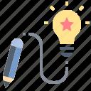 creative, design, idea, knowledge, project icon