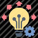 creative, idea, innovation, knowledge, technology icon