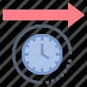 future, interval, long, term, time icon