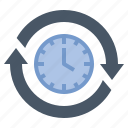 sustainable, interval, forever, moment, time icon