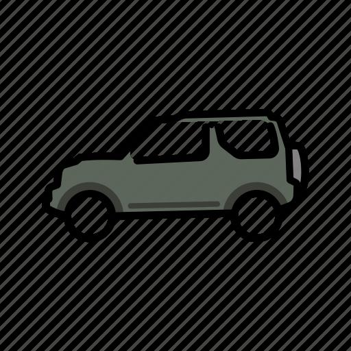 4x4, jimny, suv, suzuki, transport, vehicle icon