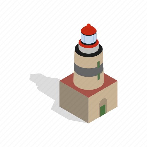 building, isometric, light, lighthouse, sweden, tower, travel icon
