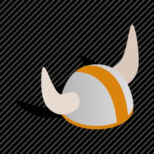 helmet, horn, isometric, scandinavian, sweden, viking, warrior icon