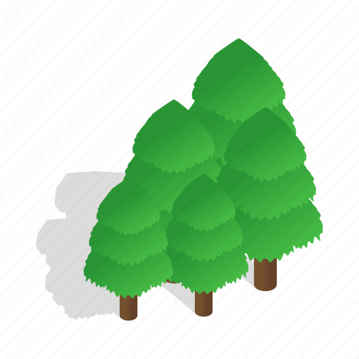 forest, isometric, landscape, nature, sweden, tree, wood icon