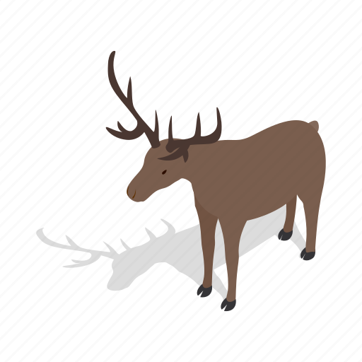 animal, buck, deer, european, isometric, mammal, roe icon