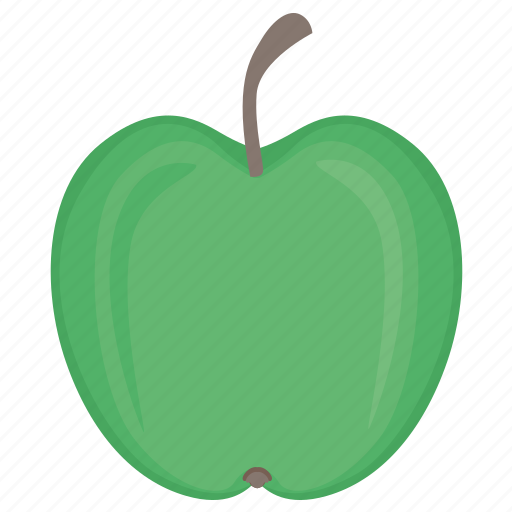 apple, eat, food, fruit, green icon