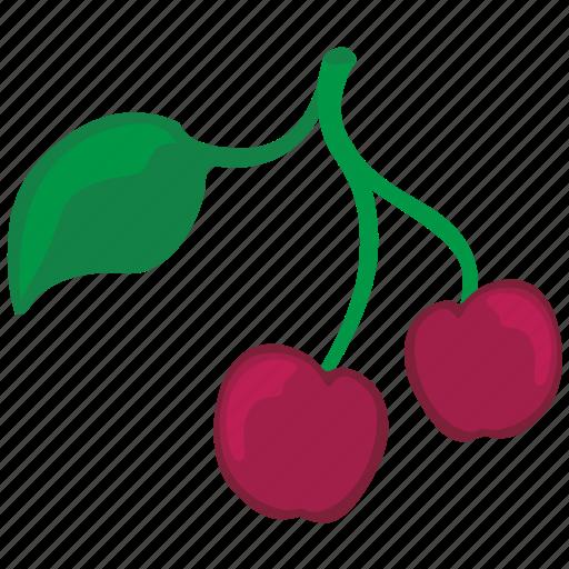 cherry, eat, food, fruit icon