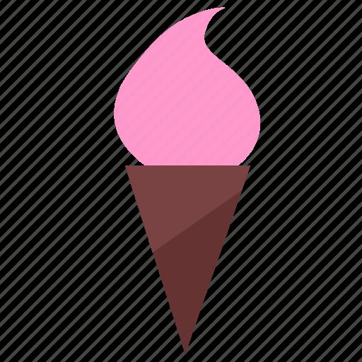 cone, cream, dessert, food, ice, sweet icon