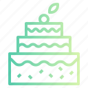bakery, birthday, cake, candles, party icon