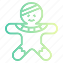 bakery, cookie, dessert, gingerbread, man icon