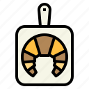 bakery, croissant, grilled, restaurant icon