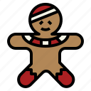 bakery, cookie, dessert, gingerbread, man