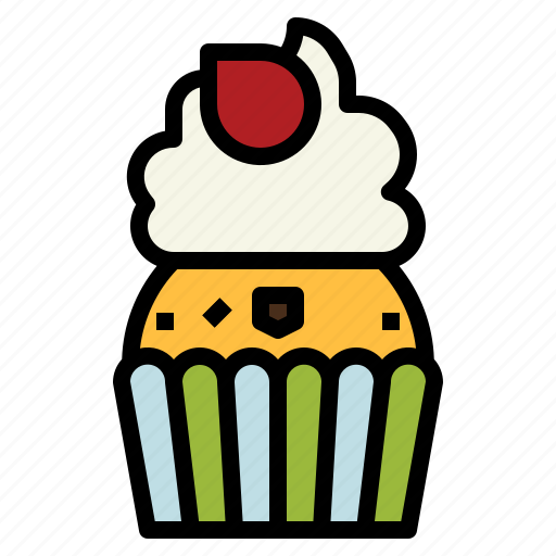 Baked, bakery, cupcake, dessert, muffin icon - Download on Iconfinder