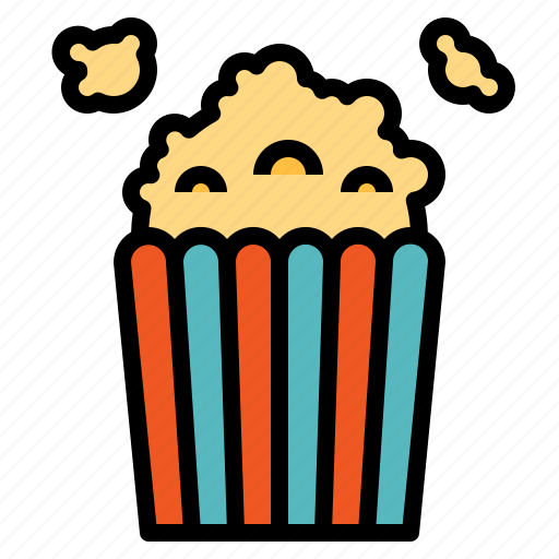 cheese, corn, popcorn, salty, snack icon