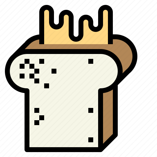browned, butter, toast, toasted, toaster icon