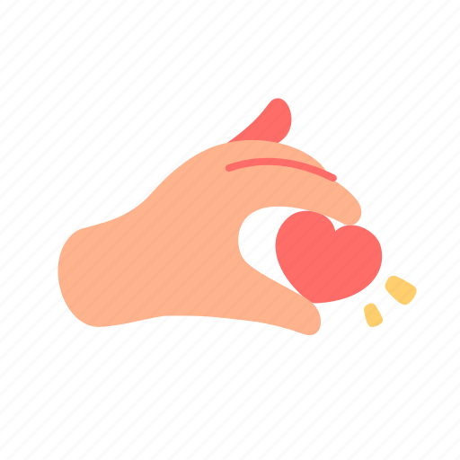 empathy, hand, heart, like, love, romantic, valentine icon