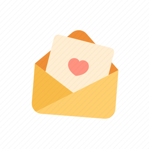 email, heart, letter, love, message, valentine icon