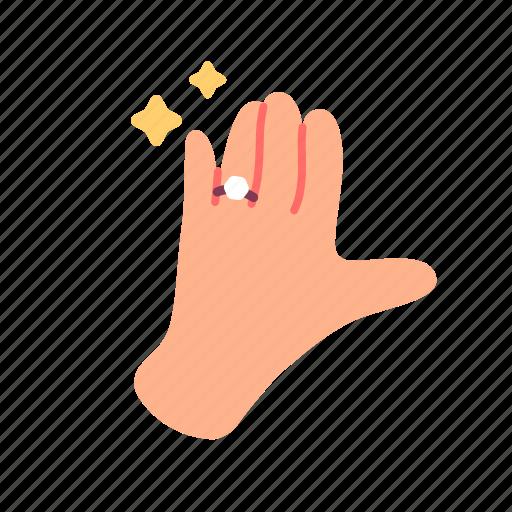 hand, love, married, ring, romantic, valentine, wedding icon