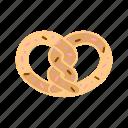 bakery, dessert, pastry, pretzel icon