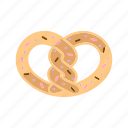 bakery, dessert, pastry, pretzel