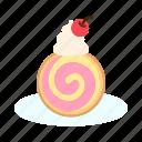 bakery, dessert, roll cake, sweet icon