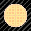 breakfast, dessert, sweet, waffle icon