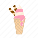 cone, dessert, ice cream, yogurt