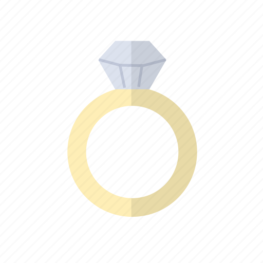 diamond, gold, love, ring icon