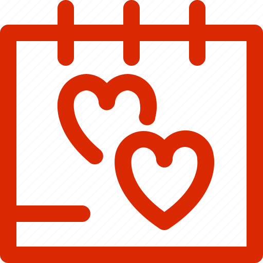 calendar, dating, february, greeting, holiday, love, valentine icon