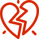 broken, dating, february, greeting, holiday, love, valentine icon
