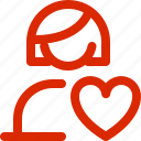 dating, february, greeting, holiday, love, valentine, woman icon